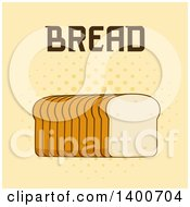 Clipart Of A Loaf Of Sliced Bread And Text Royalty Free Vector Illustration by Hit Toon