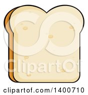 Clipart Of A Piece Of White Sliced Bread Royalty Free Vector Illustration by Hit Toon