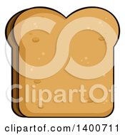 Clipart Of A Piece Of Toasted Bread Royalty Free Vector Illustration by Hit Toon