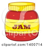 Clipart Of A Jar Of Jam Royalty Free Vector Illustration