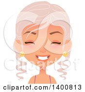 Clipart Of A Happy Fairy Woman Laughing Royalty Free Vector Illustration by Melisende Vector