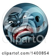 Poster, Art Print Of 3d Furious Bowling Ball Mascot Character
