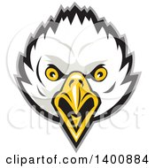 Clipart Of A Retro Bald Eagle Head Royalty Free Vector Illustration