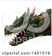 Clipart Of A 3d Dragon Head Royalty Free Illustration by Leo Blanchette