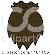 Clipart Of A Cartoon Beard And Mustache Royalty Free Vector Illustration by lineartestpilot