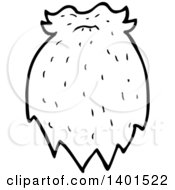 Clipart Of A Cartoon Black And White Lineart Beard And Mustache Royalty Free Vector Illustration by lineartestpilot