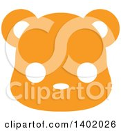 Cute Orange Bear Animal Face Avatar Or Icon