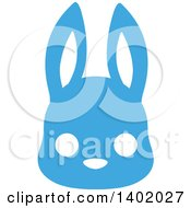 Cute Blue Bunny Rabbit Animal Face Avatar Or Icon