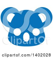 Clipart Of A Cute Blue Koala Animal Face Avatar Or Icon Royalty Free Vector Illustration