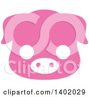 Cute Pink Piggy Animal Face Avatar Or Icon