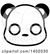 Clipart Of A Cute Black And White Panda Animal Face Avatar Or Icon Royalty Free Vector Illustration by Pushkin