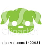 Cute Green Puppy Dog Animal Face Avatar Or Icon