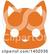 Clipart Of A Cute Orange Cat Animal Face Avatar Or Icon Royalty Free Vector Illustration by Pushkin