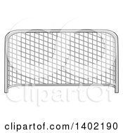 Clipart Of A Cartoon Soccer Association Football Goal Royalty Free Vector Illustration