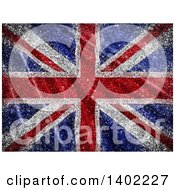 Clipart Of A Glittery Union Jack Flag Background Royalty Free Illustration