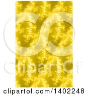 Clipart Of A Seamless Yellow Fractal Background Royalty Free Illustration