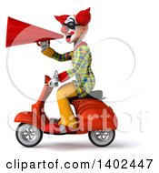 Clipart Of A 3d Funky Clown On A White Background Royalty Free Illustration