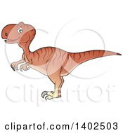 Clipart Of A Raptor Dinosaur Royalty Free Vector Illustration
