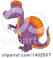 Clipart Of A Spinosaurus Dinosaur Royalty Free Vector Illustration