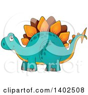 Clipart Of A Stegosaur Dinosaur Royalty Free Vector Illustration