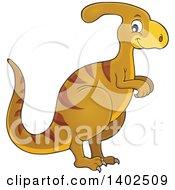 Clipart Of A Parasaurolophus Dinosaur Royalty Free Vector Illustration
