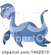 Clipart Of A Cute Pliosaur Dinosaur Royalty Free Vector Illustration by visekart