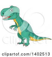 Clipart Of A Tyrannosaurus Rex Dinosaur Royalty Free Vector Illustration