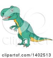 Clipart Of A Tyrannosaurus Rex Dinosaur Royalty Free Vector Illustration
