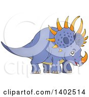 Clipart Of A Triceratops Dinosaur Royalty Free Vector Illustration by visekart