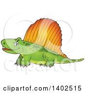 Clipart Of A Pelycosaur Dinosaur Royalty Free Vector Illustration
