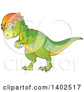 Clipart Of A Pachycephalosaurus Dinosaur Royalty Free Vector Illustration