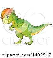Clipart Of A Pachycephalosaurus Dinosaur Royalty Free Vector Illustration