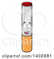 Clipart Of A Cartoon Cigarette Mascot Character Royalty Free Vector Illustration by Hit Toon