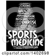 Clipart Of A Sports Medicine Tag Word Collage On Black Royalty Free Illustration
