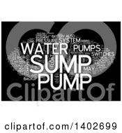 Clipart Of A Sump Pump Tag Word Collage On Black Royalty Free Illustration