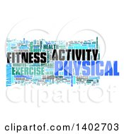 Clipart Of A Fitness Activity Tag Word Collage On White Royalty Free Illustration