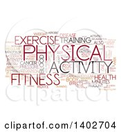 Clipart Of A Fitness Activity Tag Word Collage On White Royalty Free Illustration by MacX