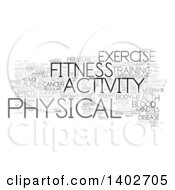 Fitness Activity Tag Word Collage On White