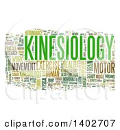 Clipart Of A Kinesiology Tag Word Collage On White Royalty Free Illustration