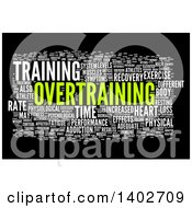 Clipart Of An Overtraining Tag Word Collage On Black Royalty Free Illustration by MacX
