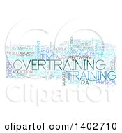 Clipart Of An Overtraining Tag Word Collage On White Royalty Free Illustration
