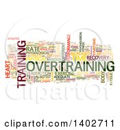 Clipart Of An Overtraining Tag Word Collage On White Royalty Free Illustration by MacX