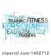 Clipart Of A Personal Training Tag Word Collage On White Royalty Free Illustration by MacX