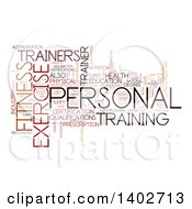 Clipart Of A Personal Training Tag Word Collage On White Royalty Free Illustration