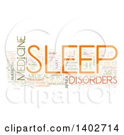 Clipart Of A Sleep Disorders Tag Word Collage On White Royalty Free Illustration by MacX