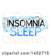 Clipart Of A Sleep Insomnia Tag Word Collage On White Royalty Free Illustration