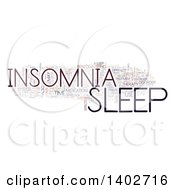 Sleep Insomnia Tag Word Collage On White