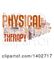 Clipart Of A Physical Therapy Tag Word Collage On White Royalty Free Illustration