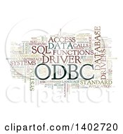 Clipart Of A ODBC Open Database Connectivity Tag Word Collage On White Royalty Free Illustration