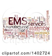 Clipart Of An EMS Tag Word Collage On White Royalty Free Illustration